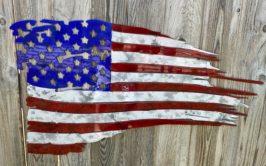 patriotic flag metal sign idaho