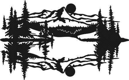 mountain scene art Idaho