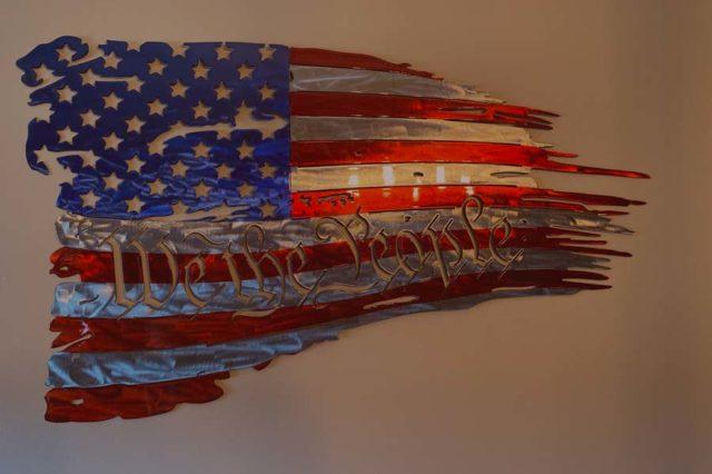 patriotic metal art Idaho